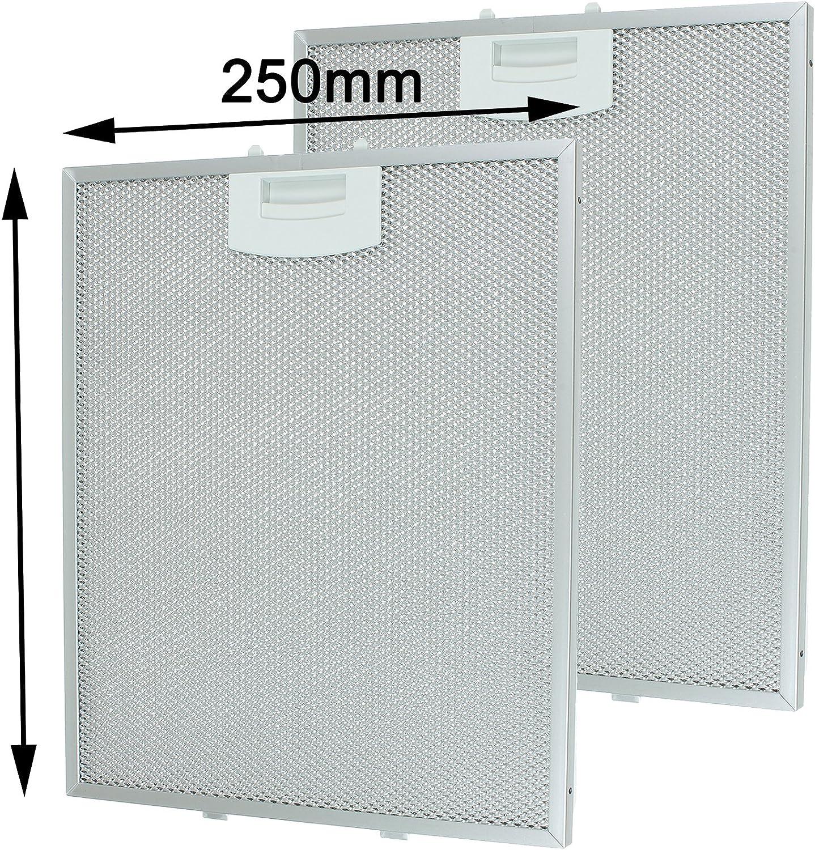 Filtros de malla de metal con extractor de ventilación SPARES2GO para ventilación de campana extractora Bosch (250 x 310 mm, paquete de 2)