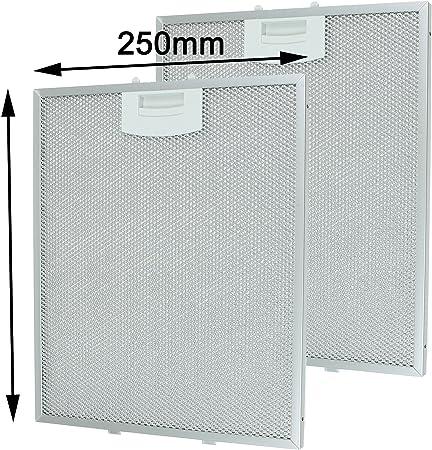 SPARES2GO Vent Extractor Filtro de malla metálica para ventilación de campana Siemens (250 x 310 mm, paquete de 2): Amazon.es: Hogar