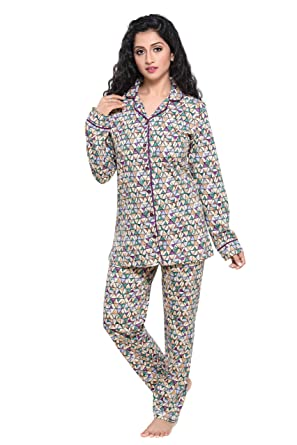4b9e3ff3c3 Boring Dress Women s Hosiery Cotton Knitted Shirt and Pajama Set  (FONS115-PKL
