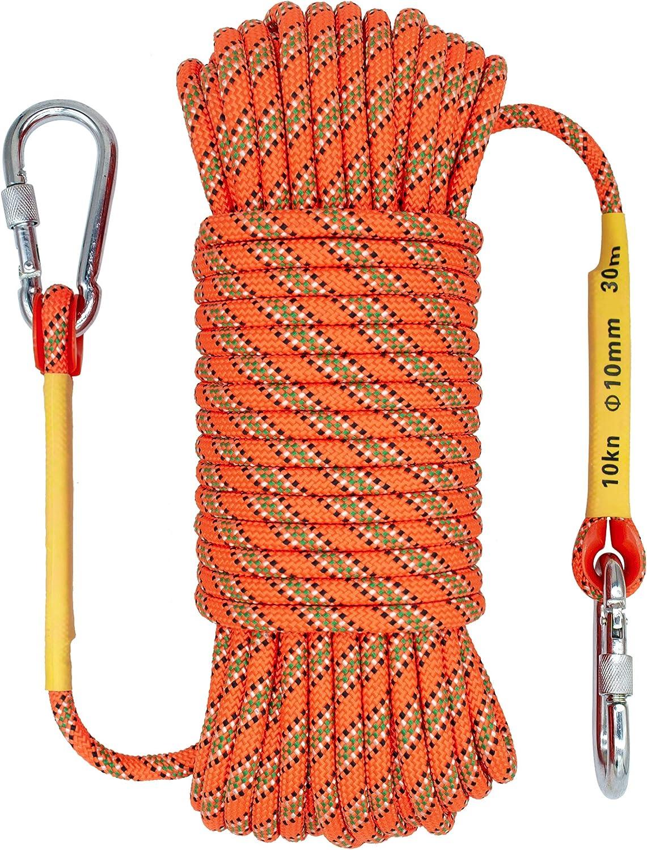 32ft Orange OXYVAN 10mm Climbing Rope