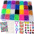 11,750+ Authentic Rainbow Mega Refill Loom by Talented Kidz: 10,750 Premium Quality Rubber Bands, 30 Charms, 200 Beads, ABC Stickers to Personalize Your Case, 550 Clips, 3 Backpack Hooks, Organizer