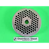 "#22 x 3/16"" STAINLESS STEEL Meat Grinder plate disc for Hobart LEM Cabelas Universal MTN & others"