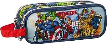Safta Portatodo Doble de Avengers Heroes Vs Thanos, 210x60x80mm, Azul Marino/Multicolor, M (M513)