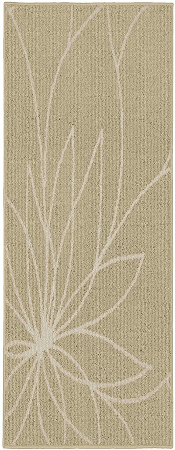 Amazon Com Garland Rug Grand Floral 2 X 5 Tan Ivory Furniture Decor