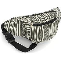Allsorts® Black Striped Bum Bag / Fanny Pack - Festivals /Club Wear/ Holiday Wear