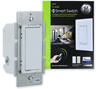 #4 GE Enbrighten Z-Wave Plus Smart Light Switch, On/Off Control, in