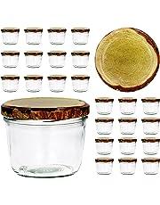 CapCro 25er Set Sturzglas 230 ml to 82 - Verschiedene Deckelfarben wählbar - Marmeladenglas Einmachglas Einweckglas