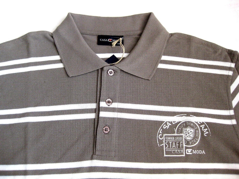 Casa Moda Polo camisa manga corta para olivbraun weeiss L de XXXXL ...