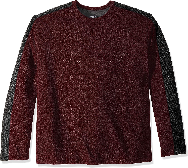 Van Heusen Men/'s Big Tall Flex Sweater Fleece Crew Choose SZ//color