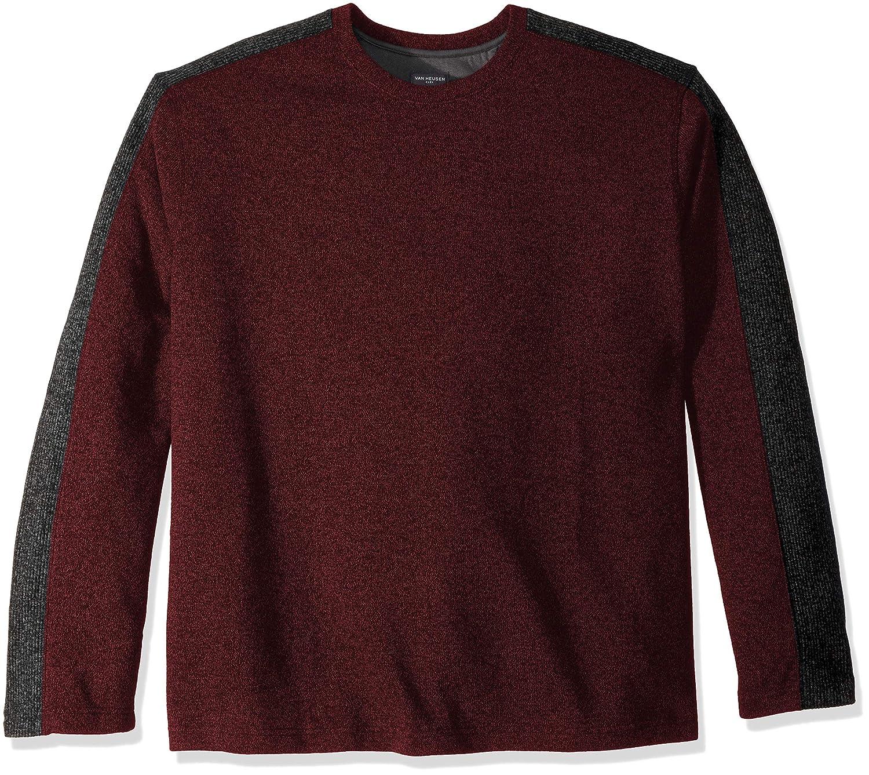 Van Heusen Mens Big and Tall Flex Sweater Fleece Crew 50W7006