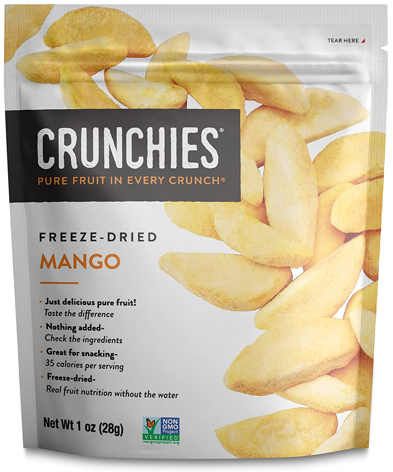 Crunchies Crispy 100% All Natural Freeze-Dried Fruits, 1 Ounce (6 Snack Packs) (Mango)