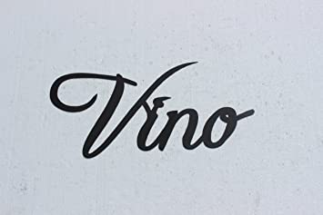 Vino Word Metal Wall Art Kitchen Home Decor