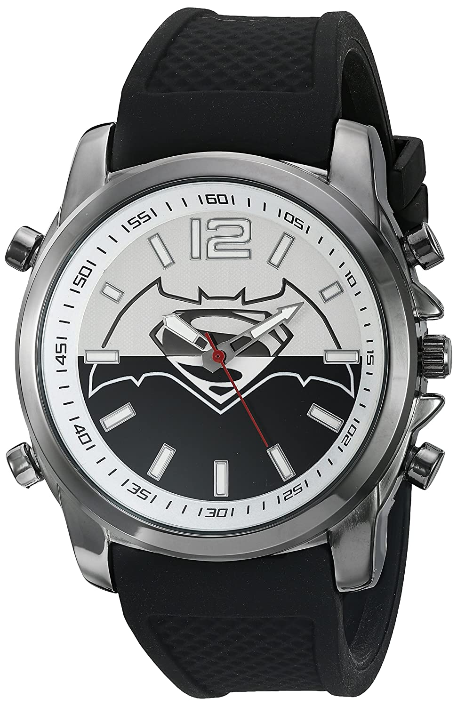 s watches dc comics s quartz metal and silicone