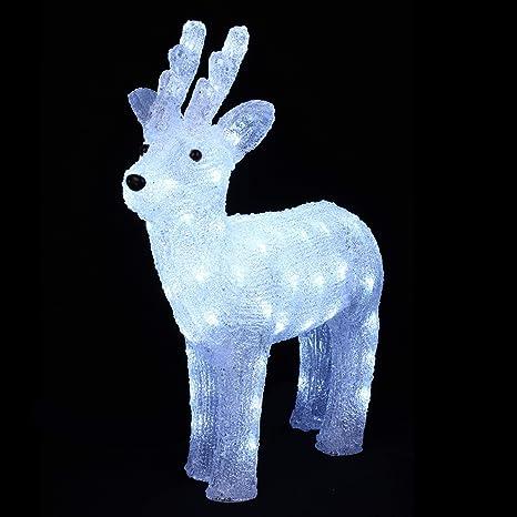 77262bbab2e DECORACIÓN DE NAVIDAD - RENO luminoso - efecto escarcha - 64 luces LED  blancas