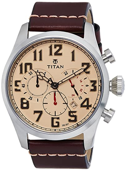8eae7a0538e Buy Titan Purple Upgrades Analog Beige Dial Men s Watch -NK9477SL02 Online  at Low Prices in India - Amazon.in