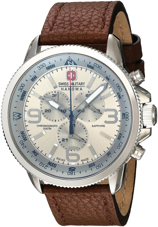 Swiss Military 6-4224.04.030 - Reloj de pulsera hombre, piel, color marrón