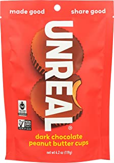 product image for UNREAL Dark Chocolate Peanut Butter Cups, 4.2 oz, Pack of 6