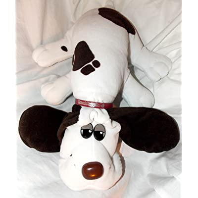 "Tonka Vintage Pound Puppies 18"" Plush White Pound Puppy Dog with Dark Brown Spots and Long Dark Brown Ears: Toys & Games"