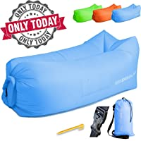 Inflatable Lounger - Air Chair Sofa Couch Hammock Best Furniture for Camping Traveling Hiking Beach