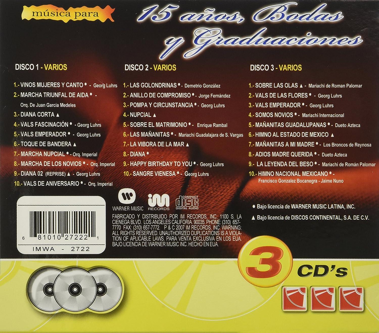 Various Artists - Musica Para 15 Anos Boda Y Graduaciones - Amazon.com Music