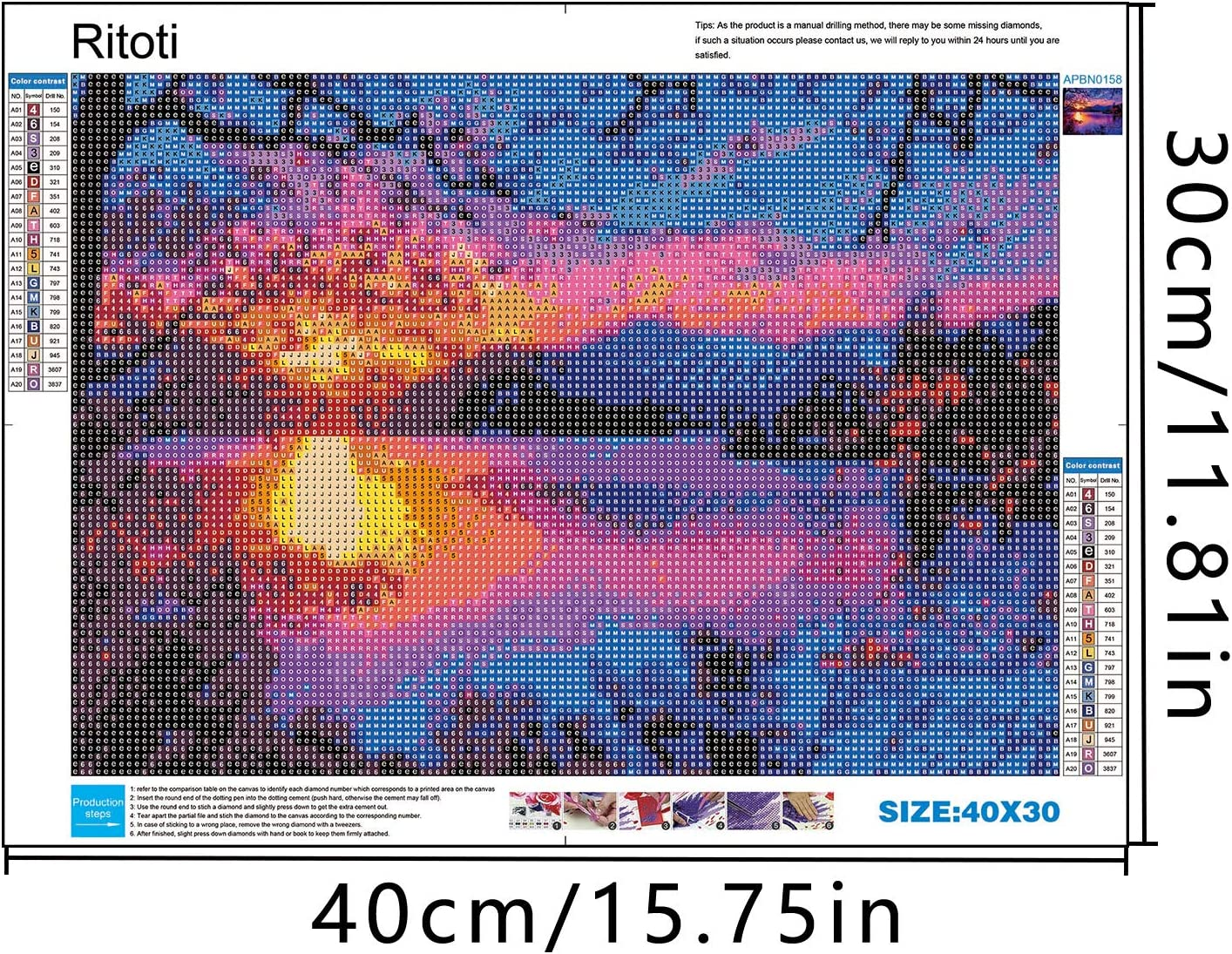 5D DIY Diamond Painting Kits for Adults by Ritoti Full Drill Rhinestone Diamond Painting Art Craft for Home Wall Decor 11.81x15.75 Inch,Evening Glow