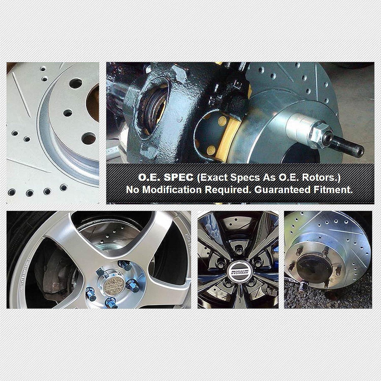 Jetta Front Rear Drill Slot Brake Rotors+Ceramic Brake Pad Fit Volkswagen Bora