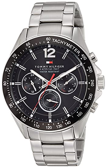 8cff763c561c9b Image Unavailable. Image not available for. Colour  Tommy Hilfiger Analog  Black Dial Men s Watch-NATH1791104