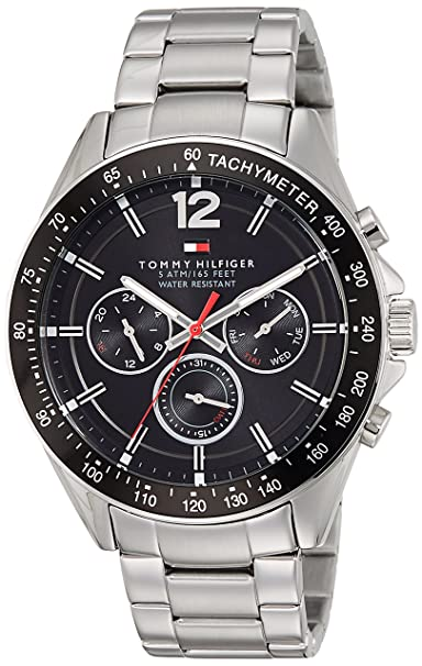 9c9cc53dc37060 Buy Tommy Hilfiger Analog Black Dial Men s Watch-NATH1791104 Online at Low  Prices in India - Amazon.in