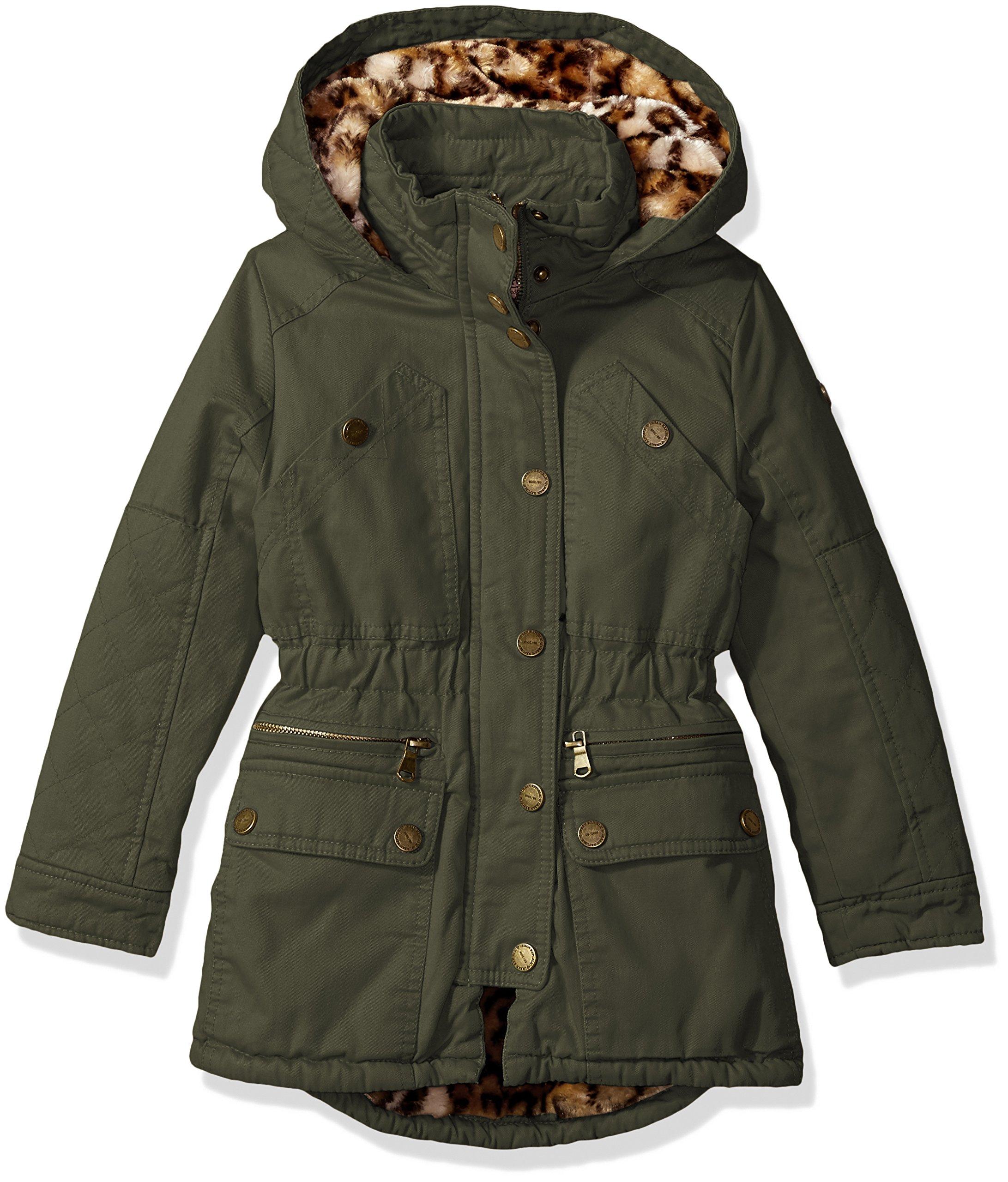 Urban Republic Little Girls' Ur Cotton Twill Jacket, Dusty Olive 5809KDL, 5/6