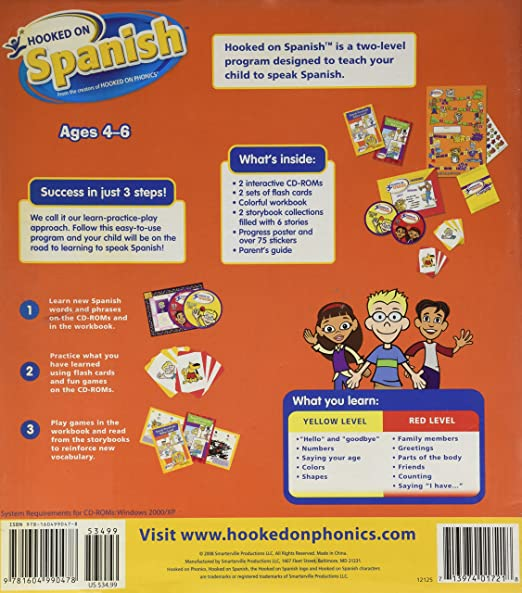 Amazon hooked on spanish learning kit the fun and wasy way to amazon hooked on spanish learning kit the fun and wasy way to teach your child to speak spanish ages 4 6 software m4hsunfo