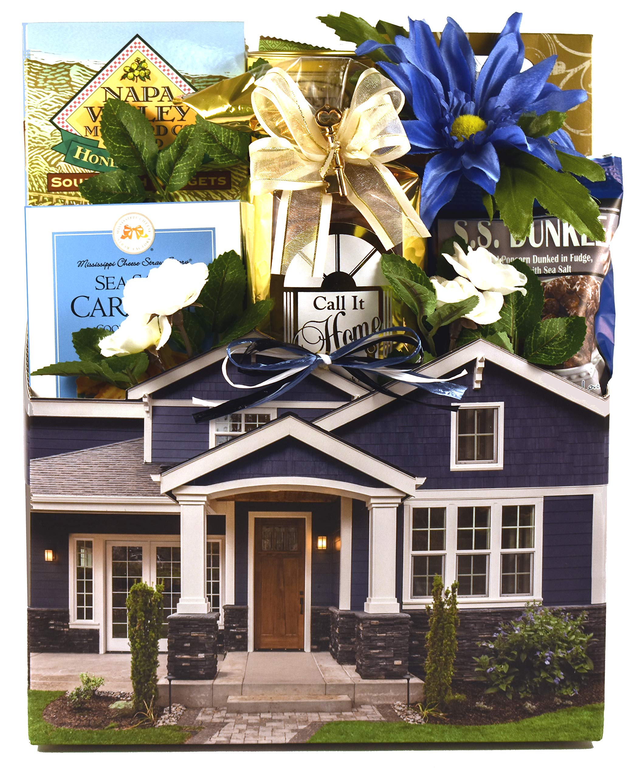 Housewarming Gift Basket For New Homeowners - Help Celebrate Their New House with a Basket Full Of Moving Day Treats by Gift Basket Village