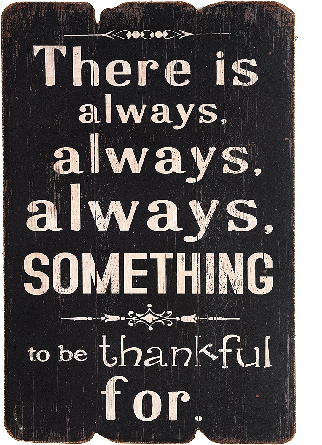 NIKKY HOME There is Always Always Always Something to Be Thankful Wooden Wall Decorative Sign 7.87 x 0.63 x 11.87 inches