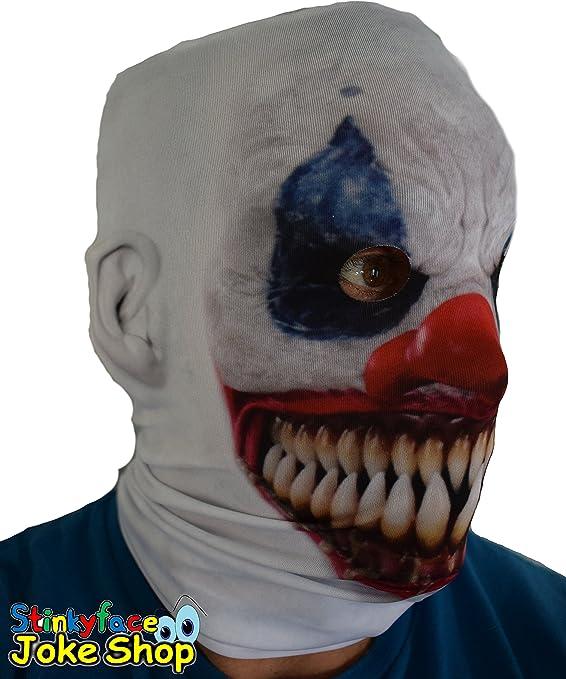 D/'horreur Clown Halloween Masque Killer Clown vollmaske gruselmaske meurtrier Arlequin