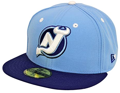 9fde2e2d18d9d8 New Era 59Fifty New Jersey Devils Sky Blue Fitted (7 7/8) at Amazon ...