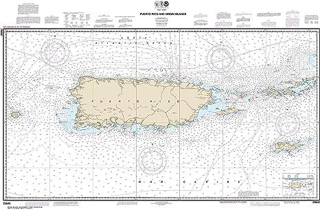 Amazon.com: NOAA Chart 25640 Puerto Rico and Virgin Islands: 31.19 ...