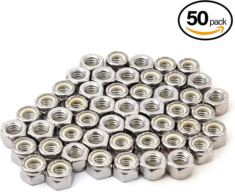Premium Carbon Steel Zinc Plated Fasteners 25 Pack POWERTEC QLN1203 Serrated Flange Hex Lock M12 Nuts