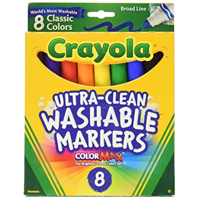 Crayola Broad Point Washable Markers - Pack of 5: Toys & Games