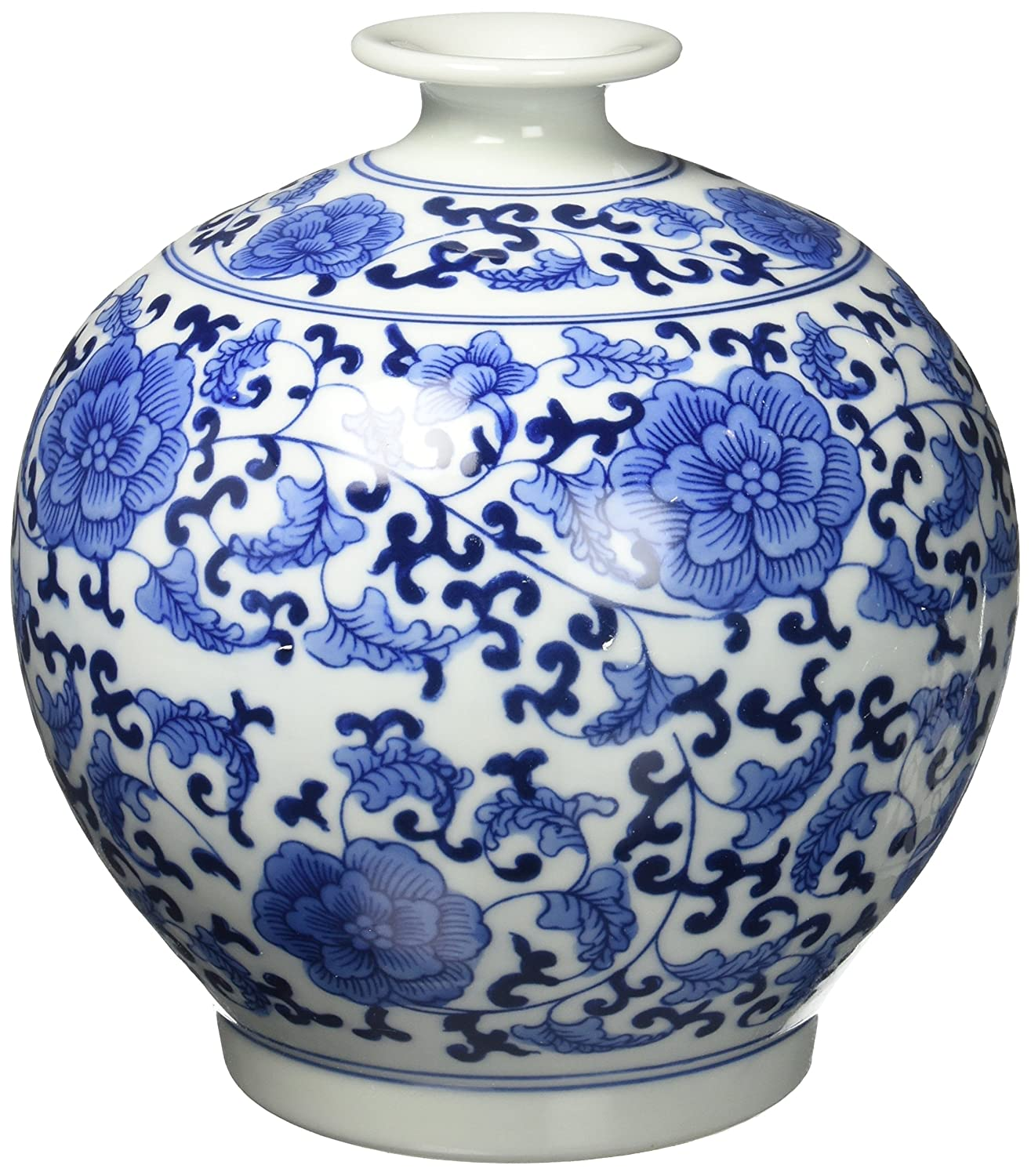 Amazon big sale classic chinese vintage blue and white classic chinese vintage blue and white floral globe porcelain decorative vase home kitchen reviewsmspy