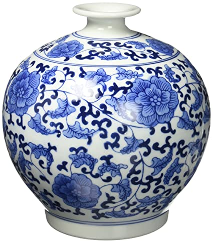Amazon Big Sale Classic Chinese Vintage Blue And White Floral