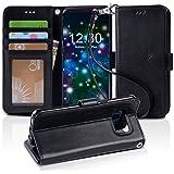「Arae」 Samsung Galaxy S8 Plus ケース 手帳型 おしゃれ スタンド 財布型 ストラップ 衝撃吸収 マグネット カード 落下防止 全面保護 おすすめ 人気 ギャラクシー S8 プラス カバー (Galaxy S8 Plus, ブラック)