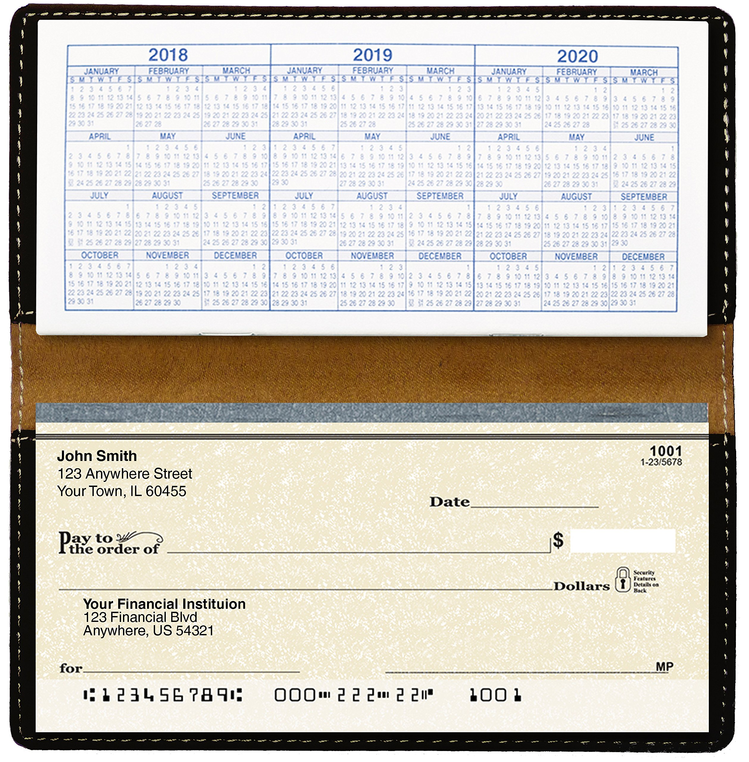 Make A Wish Laser Engraved Leatherette Checkbook Cover by Carousel Checks Inc.