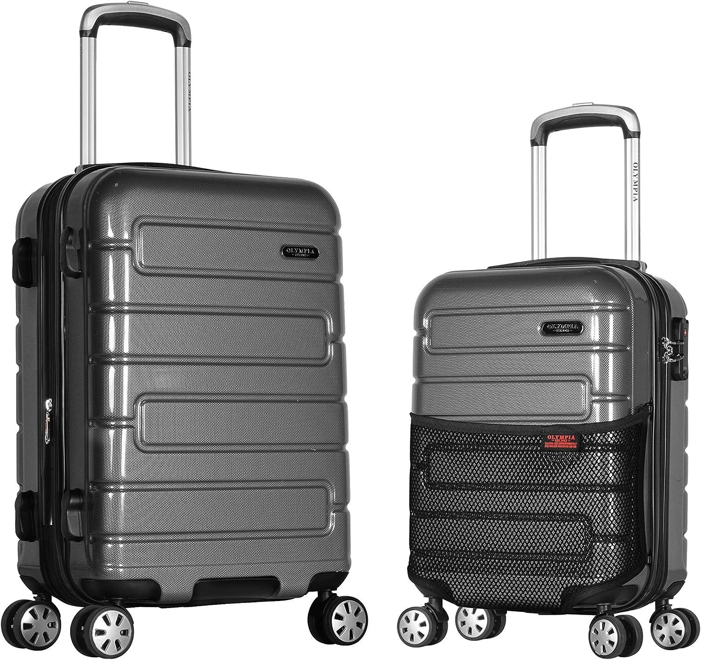 Olympia Nema 2-Piece Pc Hardcase Carry-on Set W TSA Lock