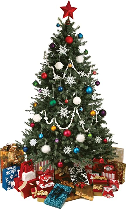 Delightful Christmas Tree Wall Decal Cutout 36u0026quot ...