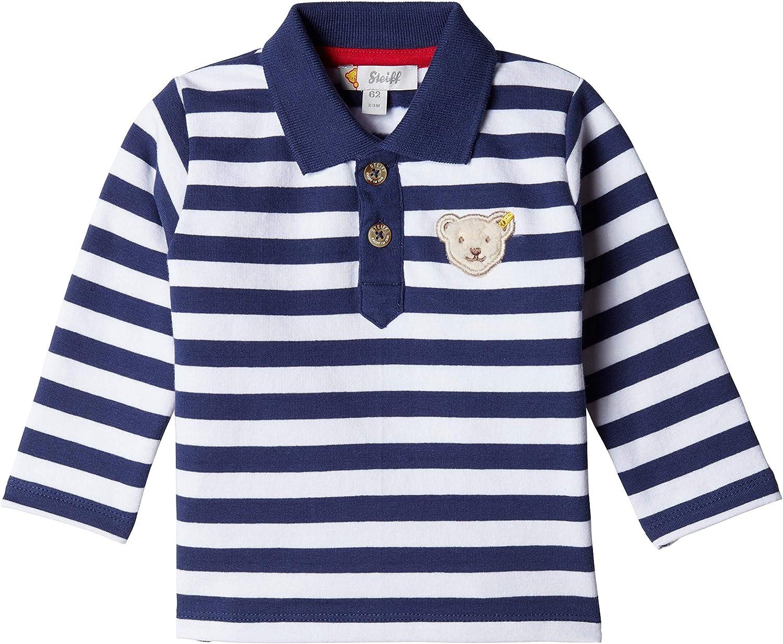 Poloshirt longsleeve gestreift mit Teddyb/ärmotiv