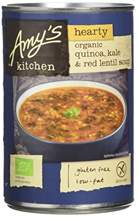 Terrific Amys Kitchen Organic Quinoa Kale And Red Lentil Soup 408 G Pack Of 6 Interior Design Ideas Inamawefileorg