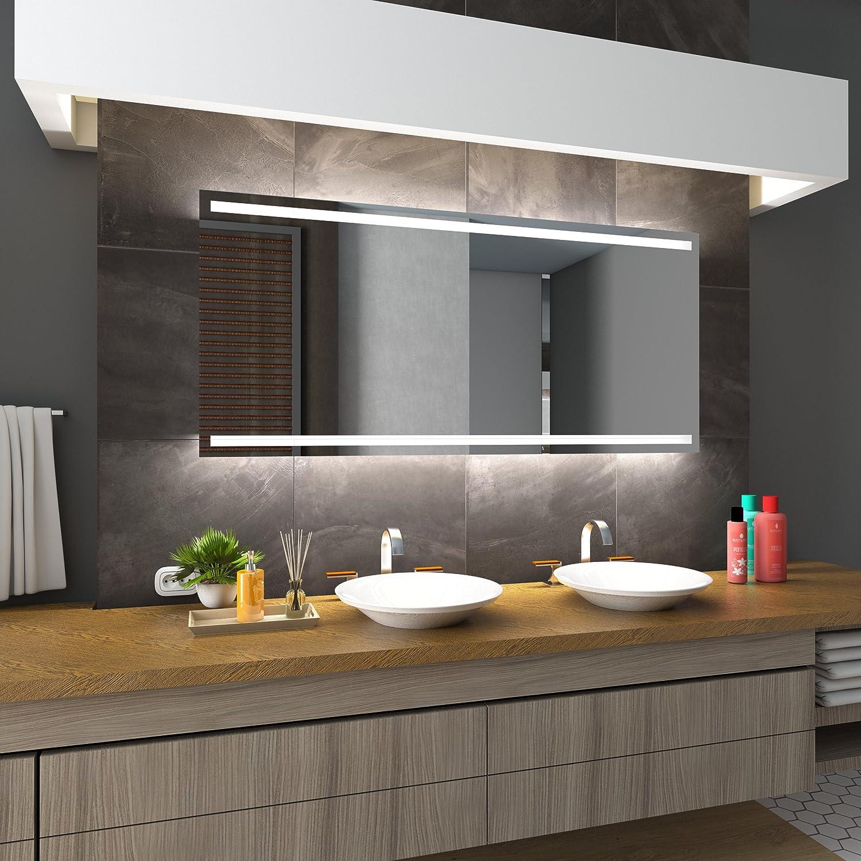 Bilderdepot24 Beleuchteter LED Spiegel Badspiegel Wandspiegel mit Beleuchtung - Bremen - 125x65 cm - LED