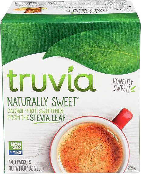Truvia, adoçante natural sem calorias sem OGM, 0, 2 gramas, 140 unidades