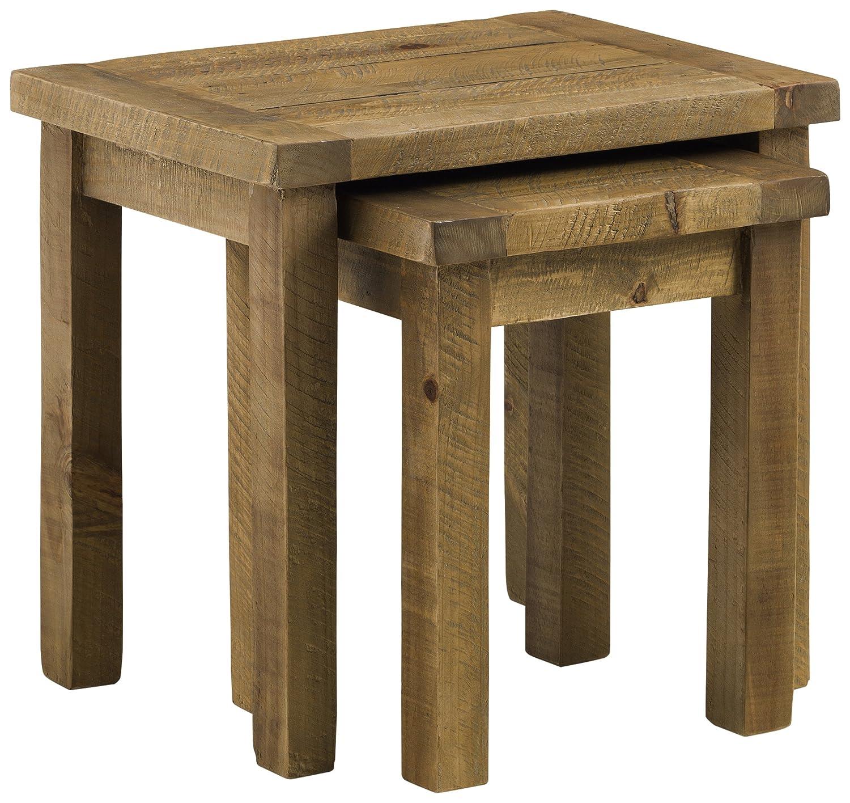 Julian Bowen Nest of Tables Natural pine 55x40x50 cm