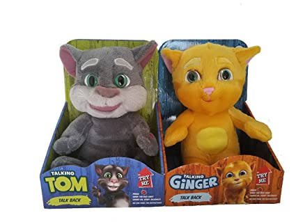 Amazon Com Talking Tom And Friends Tom And Ginger Plush Toys 11