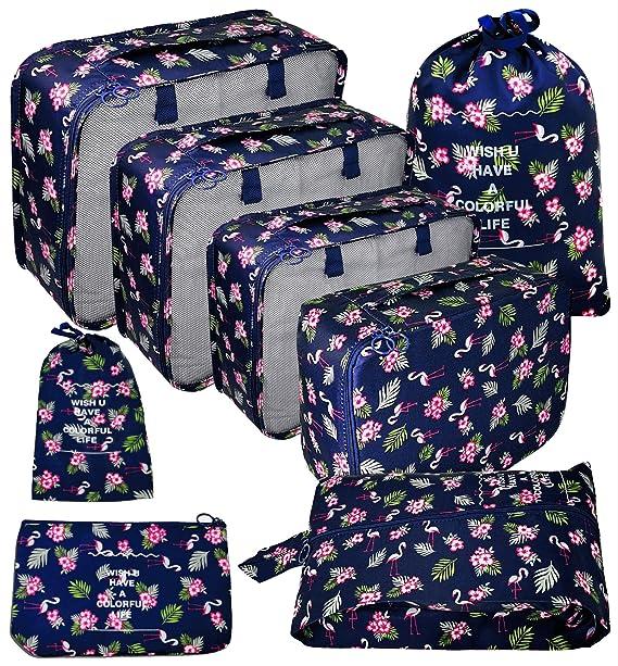 Amazon.com: Juego de 8 cubos de embalaje para mochila con ...